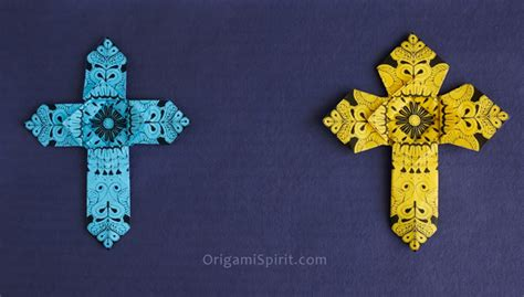 Origami Cross - how to make an origami cross version 2 of 2