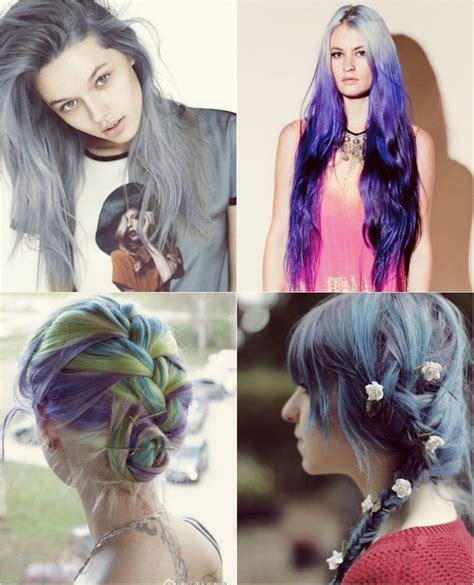 blue  violet ombre hair color