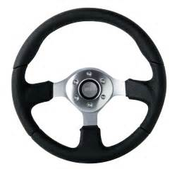 Steering Wheel Uk Basic Leather Steering Wheel 350mm By Race Sport