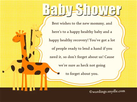 Baby Shower Greeting Card Wording by Baby Shower Wishes Wordings And Messages