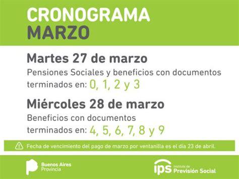 calendario de pago cronograma de pagos ips argentina ips buenos aires cronograma de pagos marzo 2018