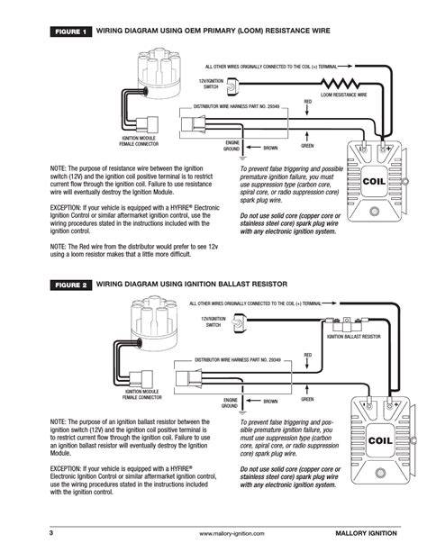 mallory ignition systems wiring diagrams mallory 3 wire