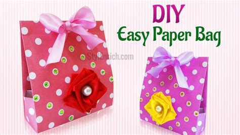 How To Make A Simple Paper Bag - diy craft ideas how to make an easy diy paper gift bag