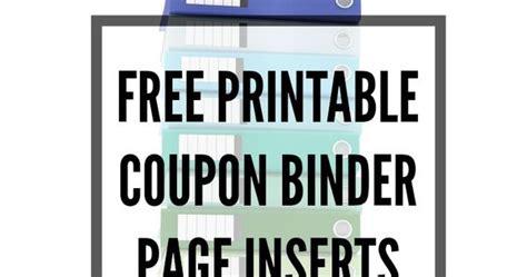 printable coupon organizer binder free printable coupon binder page inserts home manage