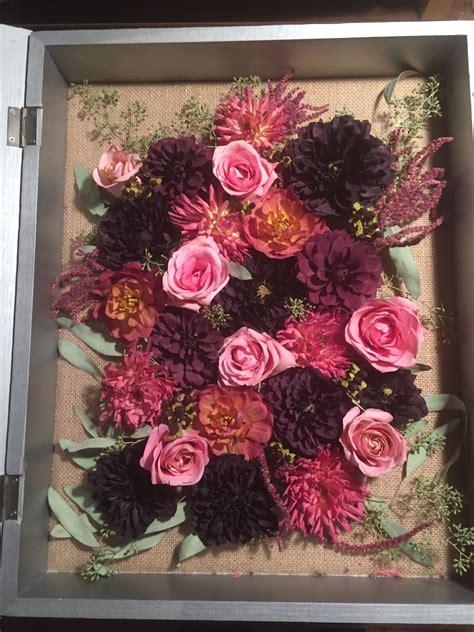 Wedding Bouquet In Shadow Box by My Diy Dried Wedding Bouquet Shadow Box Weddingbee