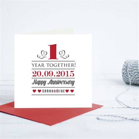 Wedding Anniversary Gift Card by Wedding Anniversary Gifts 1st Wedding Anniversary