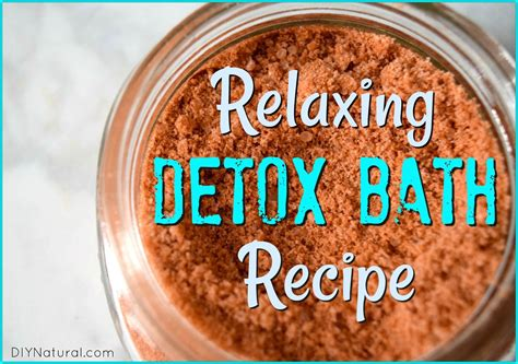 Clay Epsom Detox Bath by Detox Bath A Relaxing Recipe With Clay And