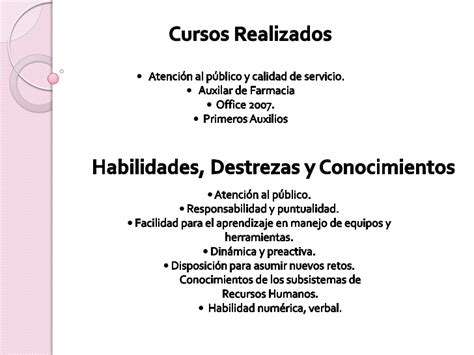 Curriculum Vitae Modelo Habilidades Y Destrezas ejemplos de habilidades y destrezas para curriculum