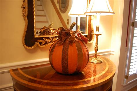How To Decorate A Pumpkin by Decoupage A Pumpkin With Ribbon For