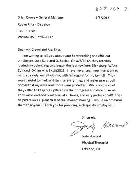 appreciation letter for honest employee the gallery for gt employee appreciation letter for work