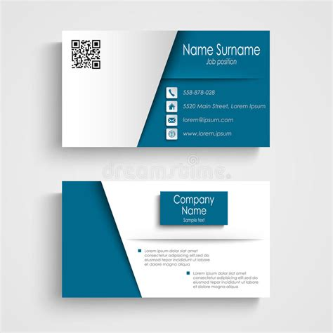 Pale Blue Business Card Template Free by Business Card With Blue White Effect Design Template Stock
