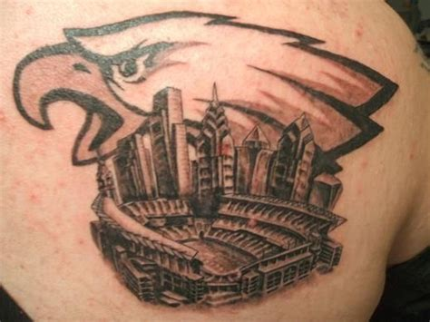 philly tattoos philadelphia eagles football fan tattoos