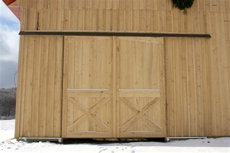 How To Build A Sliding Barn Door How To Build Exterior Insulated Barn Door Search