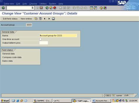 sap tutorial for accounts receivable configuration of accounts receivable configuration of