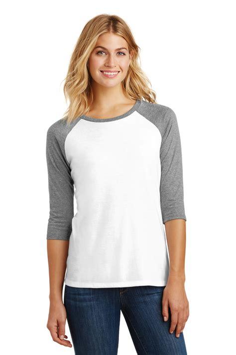Blouse Tri Model district made 3 4 sleeve raglan t shirt womens tri blend xs 4x dm136l ebay