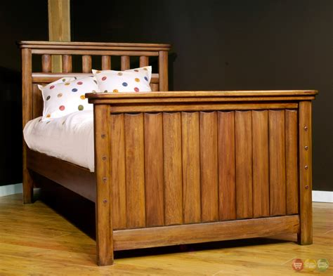 rustic full size bed timberline brown full panel bed 7400 46pan american