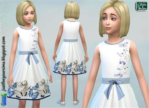 sims 4 cc kids just for your sims sims 4 butterfly dress sims 4