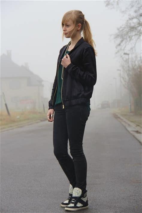 Jaket Bomber H M black bomber h m jackets quot bomber quot by fashionenvie