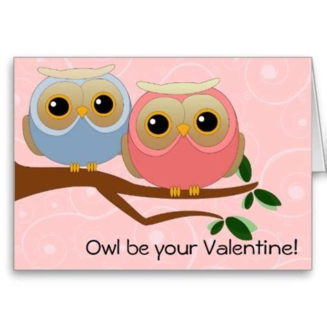 owl valentines day owl be your card