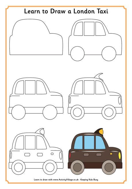 tutorial menggambar cars learn to draw tutorials for kids