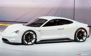new porsche electric car porsche s all electric mission e gets green light for