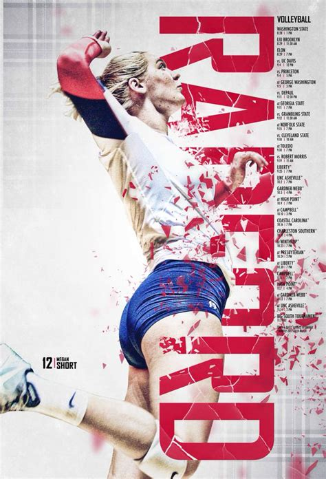 design poster sport 2015 radford volleyball poster graphic design