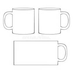cup template coffee mug template blank cup stock vector image 41067041