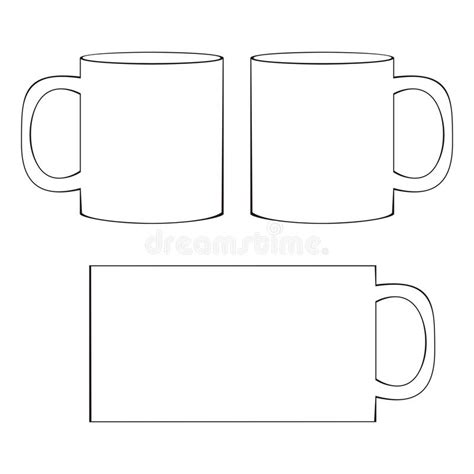 Coffee Mug Template Blank Cup Stock Vector Illustration Of Branding Template 41067041 Mug Design Template