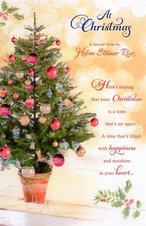 helen steiner rice christmas greeting card cards love