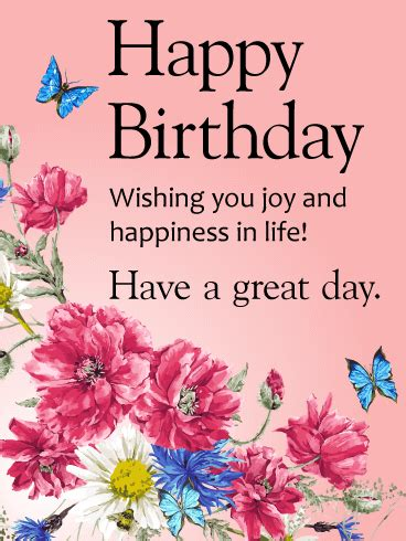 Wishing Someone A Happy Birthday Wishing You Joy And Happiness Happy Birthday Card