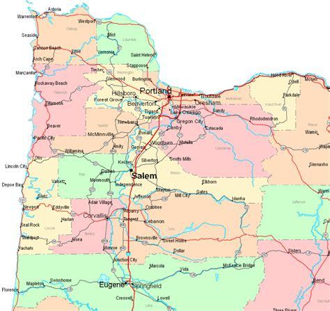 northwest usa road map oregon united states map afputra