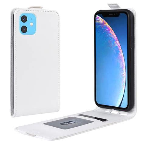 iphone  vertical flip case  card slot white
