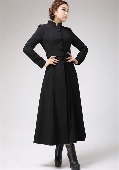 Dress Coat black dress coat with mandarin collar single breasted
