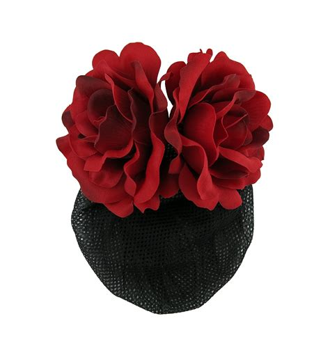 Flower Hair Barrette flower barrette hair clip with snood net