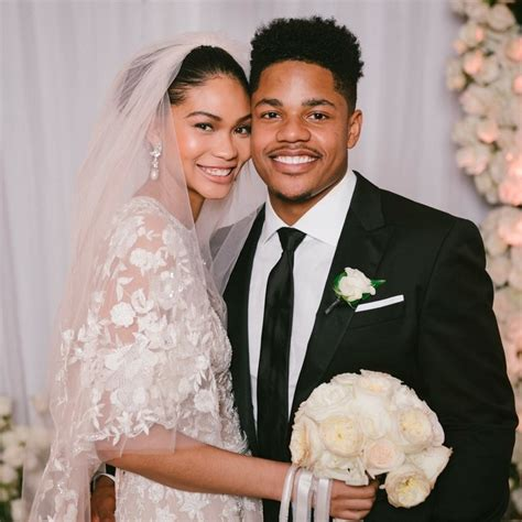 chanel iman married chanel iman and sterling shepard s stunning wedding photo