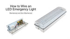 how to wire led lights how to wire the biard led emergency light