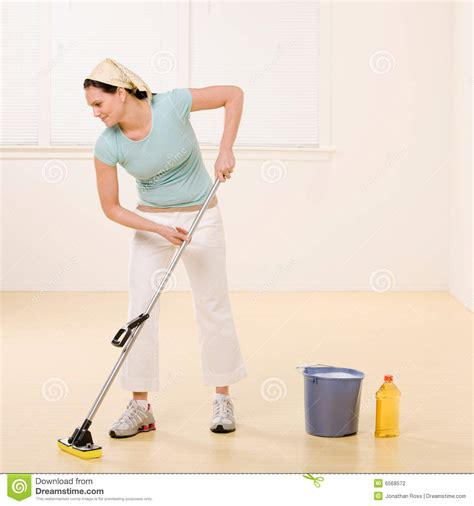 Mopping Bathroom Floor by Mopping Floor With Cleaner Stock Photography Image