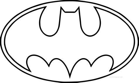 coloring pages of batman symbol batman logo outline free design templates