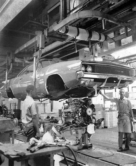 Chrysler Factories by 1968 Dodge Charger On The Hamtramck Assembly Line Mopar