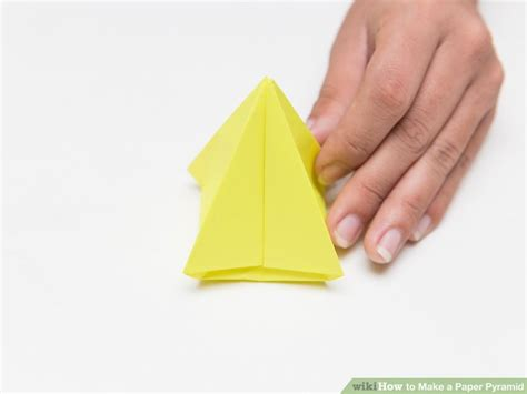 Make A Pyramid With Paper - how to make a paper pyramid 15 steps with pictures