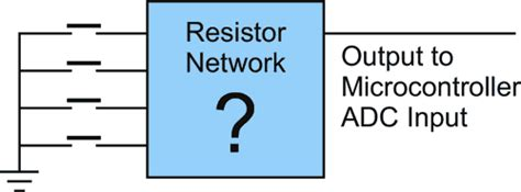 resistor network adc read switches using adc