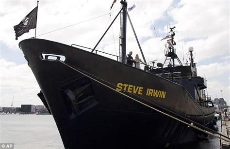 sea shepherd steve irwin sinks pictured the sea shepherd society s bullet proof