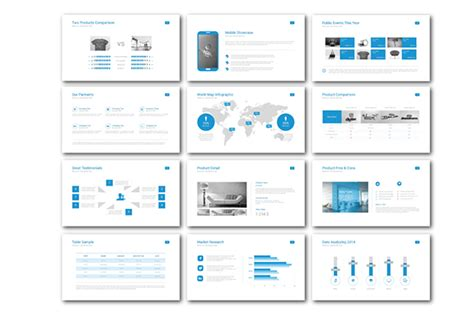 Clean Business Powerpoint Template On Behance Clean Presentation Design