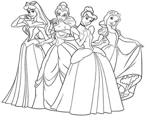 Princess Coloring Pages Print Princess Pictures Disney Princess Minimalist Free Coloring Sheets