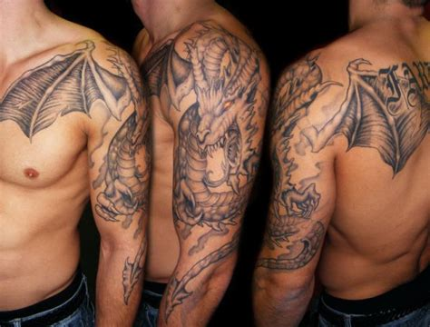 dragon tattoo designs for arms great on shoulder tattoos