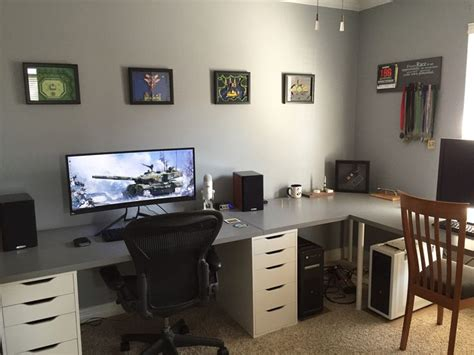 home office gaming setup 25 best ideas about office setup on pinterest desks