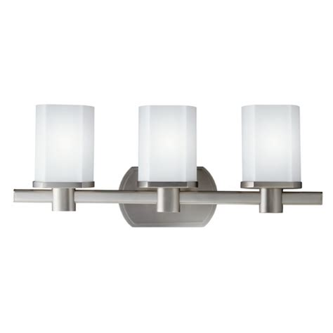 kichler lighting 5053ni lege 3 light bathroom light atg kichler brushed nickel modern bathroom light with white