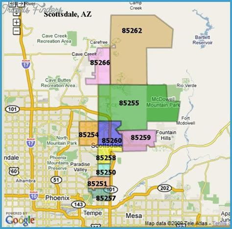 zip code map for phoenix scottsdale metro map travelsfinders com