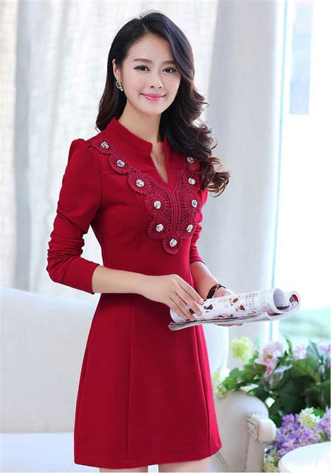 Dress Merah 02 dress korea warna merah rp 330rb