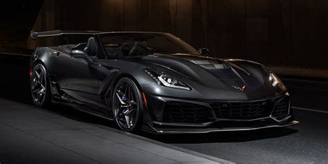 black convertible cars 2019 corvette zr1 convertible black color 4k hd wallpaper
